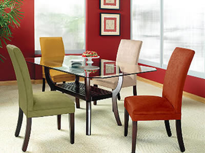 Different Color Chair Dining Room Table