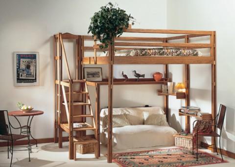 Ahorra espacio con espace loggia muebles - Escaleras para camas altas ...