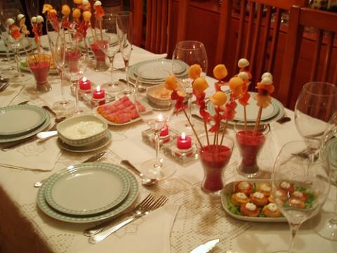 Decoracion de la mesa navide a navidad - Decoracion de mesa navidena ...