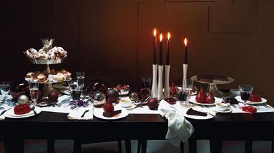Decoracion de la mesa navide a navidad for Imagenes de mesas navidenas