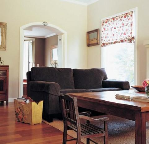 Decorar con cortinas - cocina comedor - 15