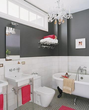 Blanco y negro para tu baño 1
