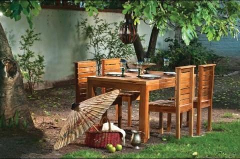 Mobiliario diferente para tu jard n o terraza muebles for Juegos de jardin rusticos