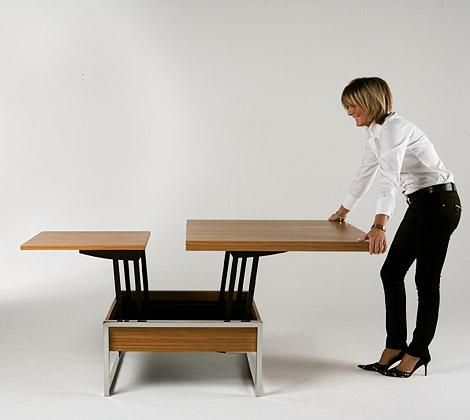 Trendy la mesa de living funcional muebles - Mesas de comedor plegables de diseno ...
