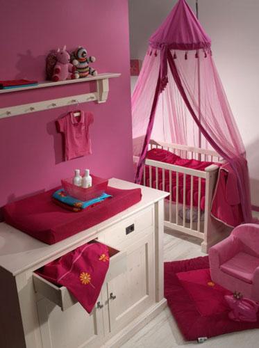 Dormitorio rosa para tu beba ni os - Decoracion para bebes habitaciones ...
