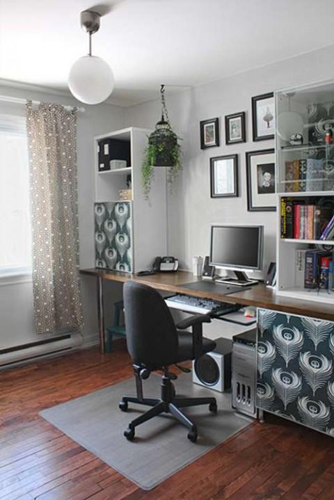 El despacho u oficina en casa consejos - Decoracion despacho en casa ...