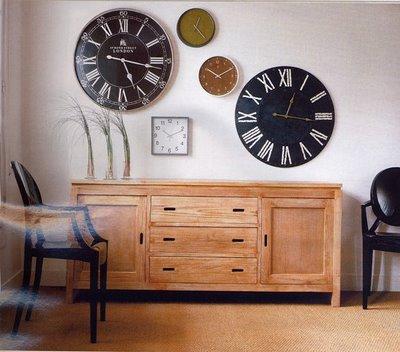 Los relojes en la decoracion - Relojes decorativos para salon ...