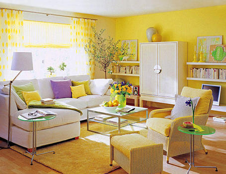 El desafio del color amarillo en la decoracion interiores for Decorar muebles con tela