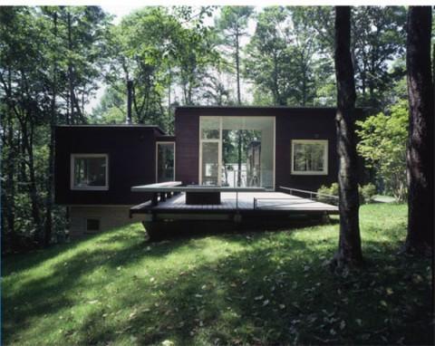 Green shadow una casa increible en medio del bosque for Casas campestres contemporaneas
