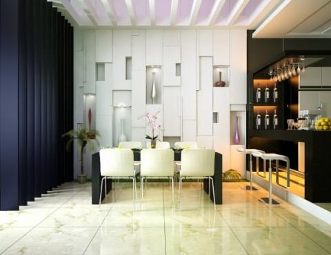 Seis ideas para un bar en casa for Bares modernos para casas