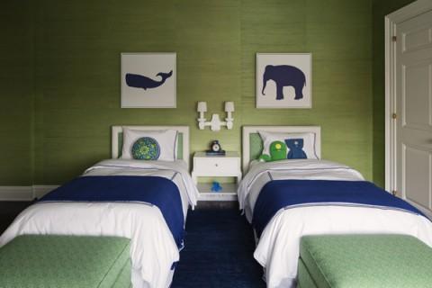 Bellos dormitorios con dos camas - Como distribuir una habitacion con dos camas ...
