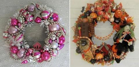 Ideas de coronas navide as para decorar - Coronas navidenas faciles ...
