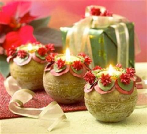 Decoraci n con velas en navidad - Adornos navidenos con velas ...