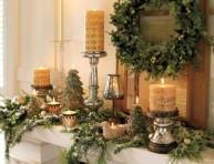 imagen Decoración con velas en navidad
