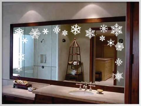 Vinilos adhesivos para decorar en navidad - Vinilos para espejos ...