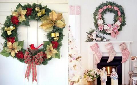 Ideas de coronas navide as para decorar - Decoracion navidena artesanal ...