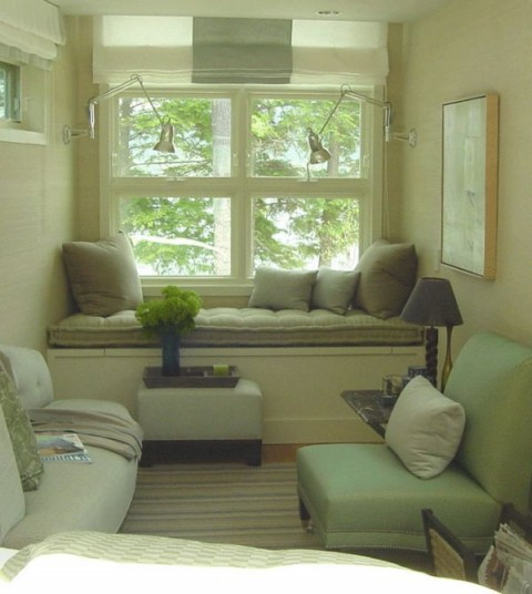 Decorating idea reading area cozy nook reading corner Window seat reading nook