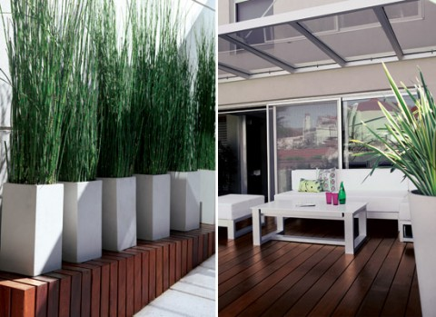 Un jard n interior minimalista - Pisos ciudad jardin ...