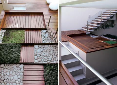 Un jard n interior minimalista - Diseno de jardines minimalistas para casas ...