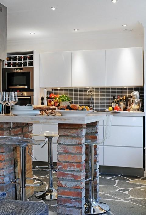 Una Sala Incluye Living Comedor Cocina Pequeño