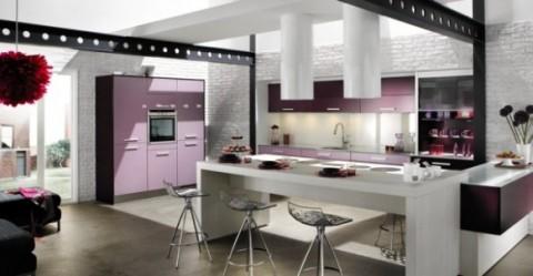 Cocinas modernas en color violeta y púrpura-02