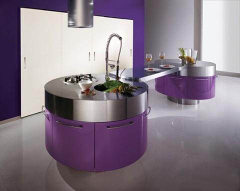 Cocinas modernas en color violeta y púrpura-05