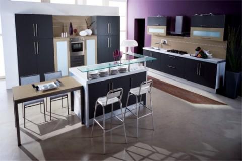Cocinas modernas en color violeta y púrpura-07