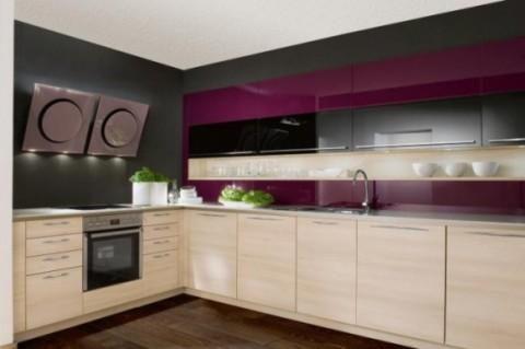 Cocinas modernas en color violeta y púrpura-09
