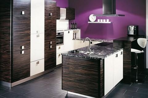 Cocinas modernas en color violeta y púrpura-11