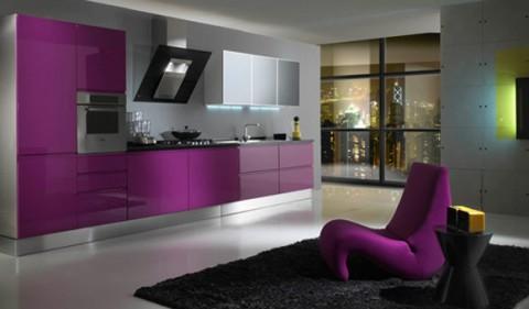 Cocinas modernas en color violeta y púrpura-12