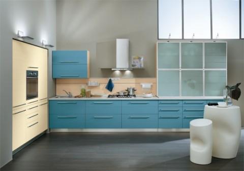 Delicadas cocinas en tono azul-01