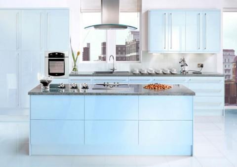 Delicadas cocinas en tono azul-09