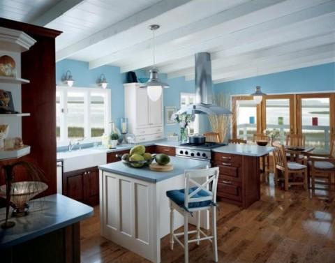 Delicadas cocinas en tono azul-10