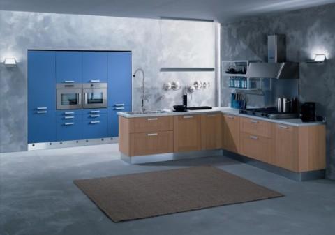 Delicadas cocinas en tono azul-11