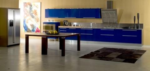 Delicadas cocinas en tono azul-12