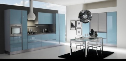 Delicadas cocinas en tono azul-13