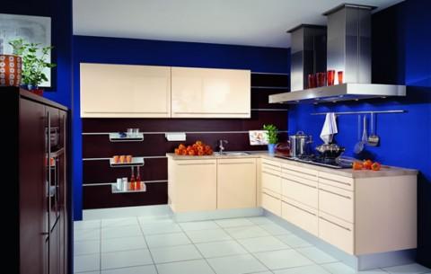 Delicadas cocinas en tono azul-17