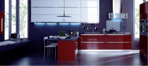 Delicadas cocinas en tono azul-18