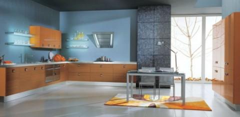 Delicadas cocinas en tono azul-19