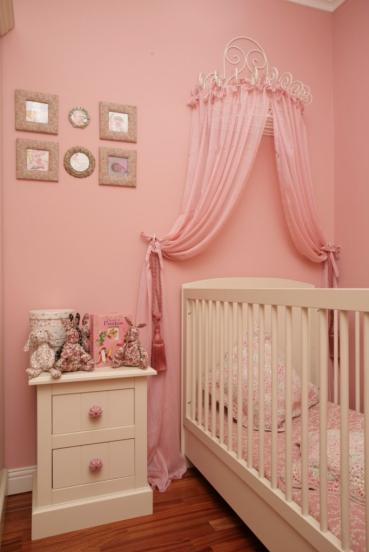 Tierna habitacion en rosa para tu beba for Wandfarbe altrosa