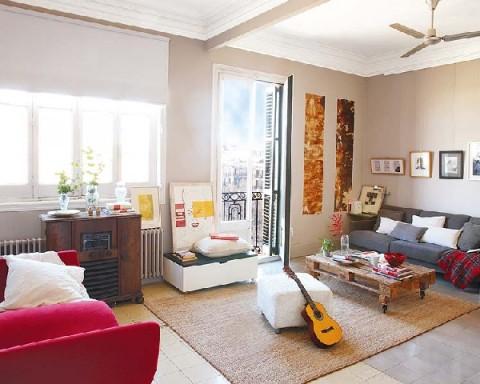 Acogedor piso antiguo remodelado en barcelona for Ideas para decorar un piso antiguo