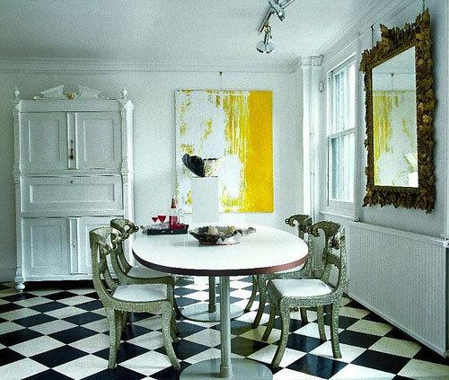 Estilo retro pisos combinados 09 gu a para decorar - Decorar piso estilo vintage ...