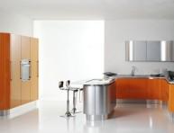 imagen Modernas y sofisticadas cocinas en color naranja