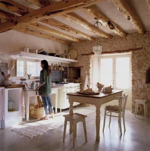Casas el estilo rustico o campestre enamora for Decoracion de interiores de la escuela