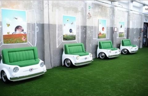 Mobiliario inspirado en el Fiat 500-05