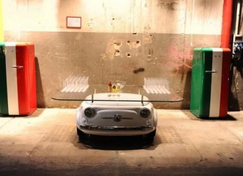Mobiliario inspirado en el Fiat 500-06