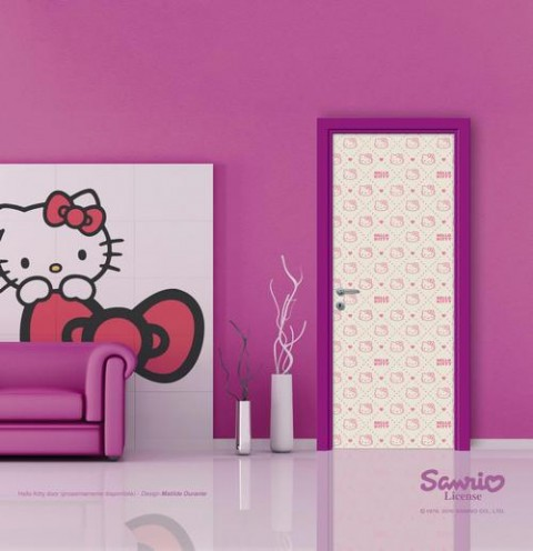 Puertas de interior de Hello Kitty1