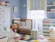 imagen Texturas y colores en la habitación del bebé