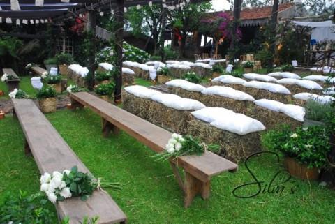 Decoraci n de una fiesta de casamiento con estilo campestre for Bodas en el campo decoracion