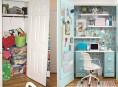 imagen Un closet transformado en oficina